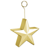 New Years Decorations Gold Star Balloon Holder Image