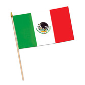 "Cinco de Mayo Decorations 4""x 6"" Rayon Mexican Flags Image"