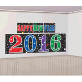 New Years Decorations 2016 Multicolor Backdrop Image