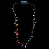 Christmas Party Wear Flashing Christmas Lights Necklace Image