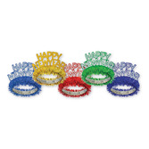 New Years Hats & Headwear  Happy New Year Fringed Tiara Assorted Colors Image