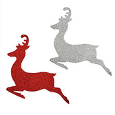 Christmas Decorations Glittered Reindeer Decorations Image
