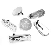 New Years Favors & Prizes Silver Metal Noisemaker Image