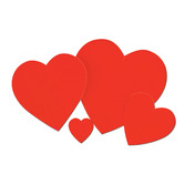 """Valentine's Day Decorations 4"""" Printed Heart Image"""