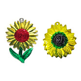 Easter Decorations Sunflower Tin Ornament Image
