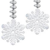 Christmas Decorations Foil Snowflake Dangler Image