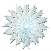 Christmas Decorations Dip-Dyed Snowflake Image