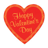 Valentine's Day Decorations Valentine's Day Glittered Foil Heart Image