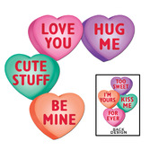 Valentine's Day Decorations Candy Heart Cutout Image