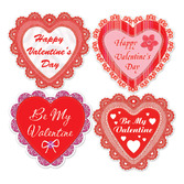 Valentine's Day Decorations Valentine Lace Hearts Cutouts Image