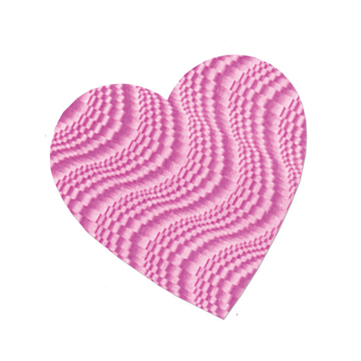 """Valentine's Day Decorations 4"""" Embossed Pink Heart Cutout Image"""