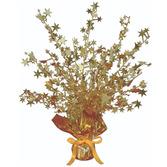 New Years Decorations Gold Starburst Centerpiece Image