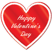 Valentine's Day Decorations Printed Foil Heart Cutout Image