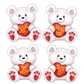 Valentine's Day Decorations Mini Valentine Bear Cutouts Image