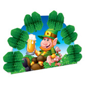 St. Patrick's Day Decorations Leprechaun Pop Over Centerpiece Image