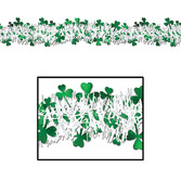 St. Patrick's Day Decorations Metallic Shamrock Garland Image