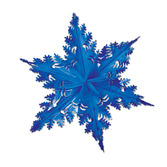 Christmas Decorations Blue Metallic Winter Snowflake Image