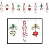 Christmas Decorations Poinsetttia Shimmer Garland Image