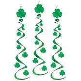 St. Patrick's Day Decorations Shamrock Whirls Image