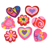 Valentine's Day Favors & Prizes Valentine Erasers Image