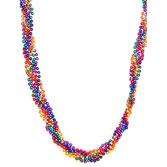 Cinco de Mayo Party Wear Rainbow Twist Bead Necklace Image