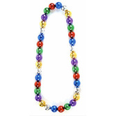 Mardi Gras Party Wear Mirror Ball Beaded Neckace Image