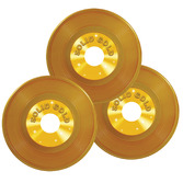 """Awards Night & Hollywood Decorations 9"""" Gold Plastic Records Image"""