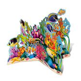 Luau Decorations Coral Reef 3D Stand Up Image