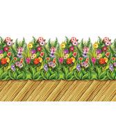 Luau Decorations Tropical Flower Bamboo Walkway  Image