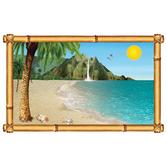 Luau Decorations Tropical Beach Backdrop Image