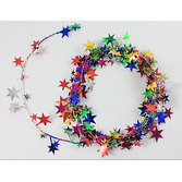 New Years Decorations Multicolor Star Wire Garland Image