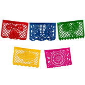Cinco de Mayo Decorations Small Plastic Picado Banner - Multicolor Image