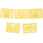 Cinco de Mayo Decorations Large Yellow Papel Picado Image