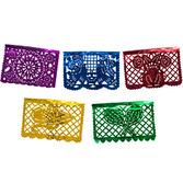 Cinco de Mayo Decorations Medium Multicolor Metallic Picado Banner Image