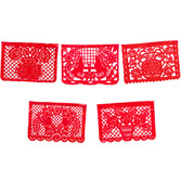 Cinco de Mayo Decorations Large Red Plastic Picado Image