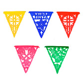Cinco de Mayo Decorations Fiesta Plastic Pennant Banner - Multicolor Image