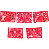 Cinco de Mayo Decorations Large Red Papel Picado Image