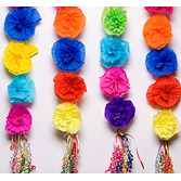 Cinco de Mayo Decorations Carnation Flower Swag Image