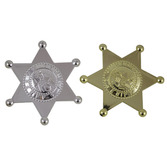 Western Party Wear Plastic Sheriff's Badges Image