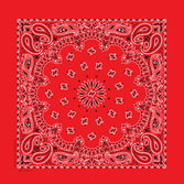 Western Party Wear Deluxe Red Bandana Image