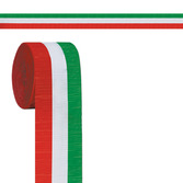 Cinco de Mayo Decorations Red, White, and Green Crepe Streamer Image