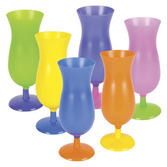 Luau Table Accessories Neon Hurricane Glass Image