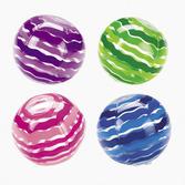 Luau Favors & Prizes Striped Beach Ball Inflate Image