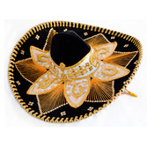 Cinco de Mayo Hats & Headwear Black and Gold Mariachi Sombrero Image