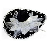 Cinco de Mayo Hats & Headwear Black and White Mariachi Sombrero Image