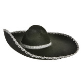 Cinco de Mayo Hats & Headwear Black Felt Sombrero Image