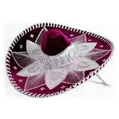 Cinco de Mayo Hats & Headwear Burgundy and White Mariachi Sombrero Image