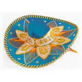 Cinco de Mayo Hats & Headwear Light Blue and Gold Mariachi Sombrero Image