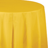 Thanksgiving Table Accessories Round Table Cover Golden Yellow Image