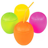 Luau Table Accessories Neon Coconut Cup Image